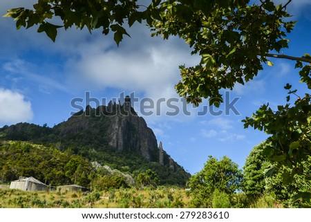 Mount Manaia, New Zealand on the north island - stock photo
