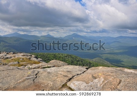 Cascade mountains stock images royalty free images vectors mount marcy view from cascade mountain in high peaks area adirondacks sciox Gallery