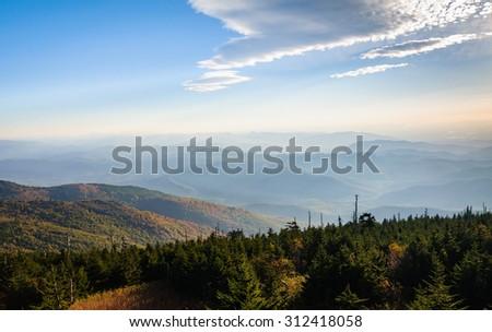 Mount Mitchell State Park - stock photo