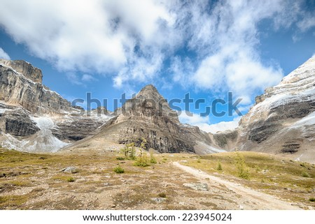Mount Pinnacle, Sentinel Pass, Banff National Park, Alberta, Canada - stock photo