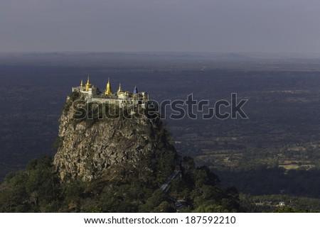Mount Popa, at Bagan, Myanmar - stock photo