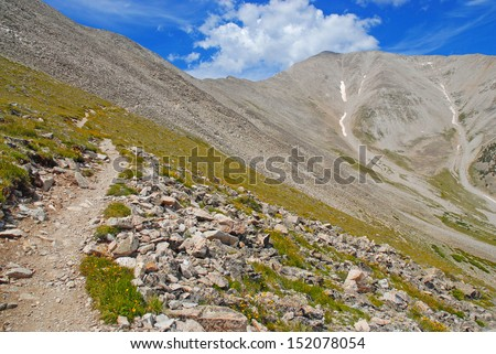 Mount Princeton, Rocky Mountains, Colorado - stock photo