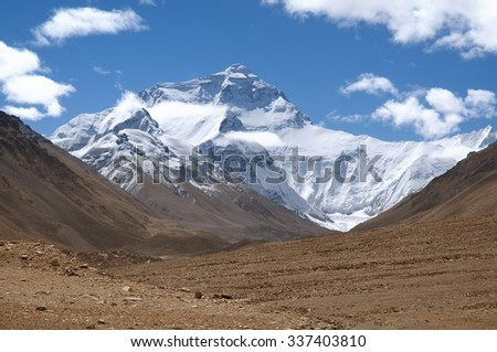 Mount Qomolangma of Tibet