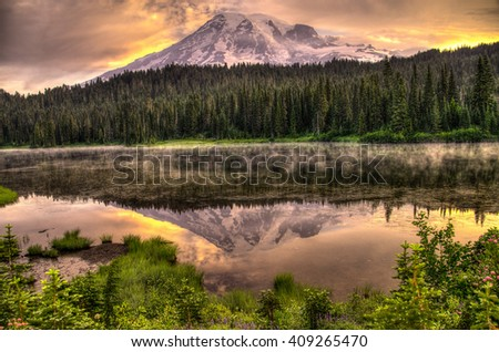 Mount Rainier - stock photo