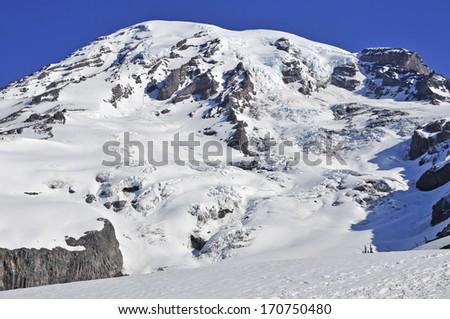 Mount Rainier, Cascades Range, Washington State - stock photo