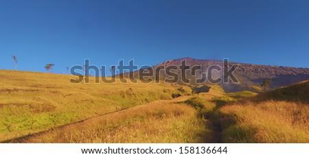 Mount Rinjani, Lombok, Indonesia - stock photo