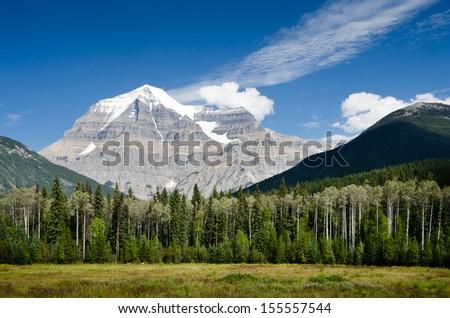 Mount Robson - British Columbia - Canada - stock photo