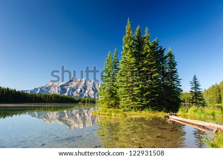 Mount Rundle from Cascade Ponds. Banff National Park, Canada