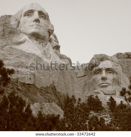 Mount Rushmore (3) - stock photo