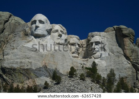 Mount Rushmore - stock photo