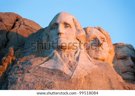 Mount Rushmore National Memorial - stock photo