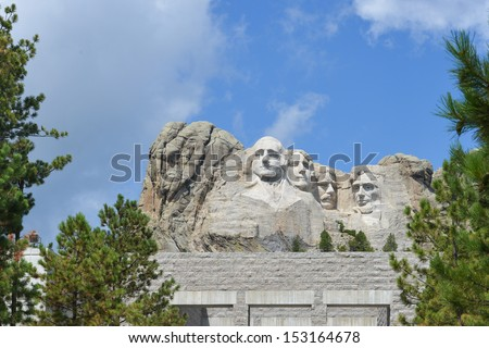 Mount Rushmore National Monument in South Dakota, United States - stock photo