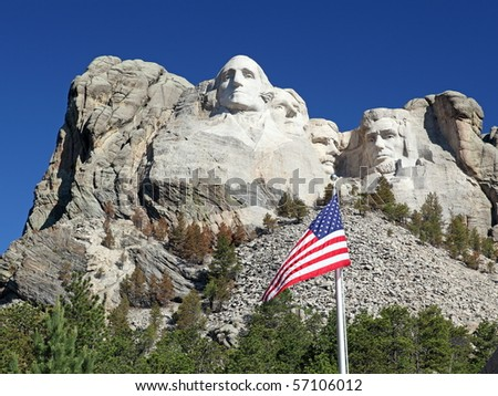 Mount Rushmore National Park Monument, South Dakota, U.S.A. - stock photo
