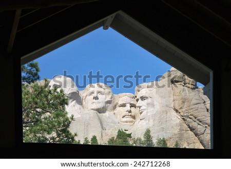Mount Rushmore, USA - stock photo