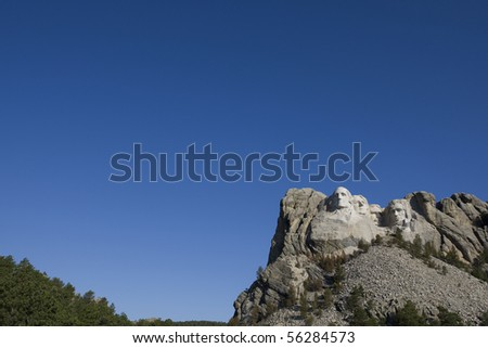 mount rushmore with copy space for writing - stock photo