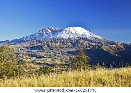 Mount Saint Helens from the Hummocks trail - stock photo