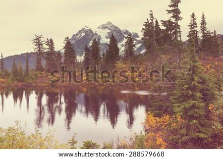 Mount Shuksan,Washington - stock photo