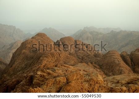 Mount Sinai in early morning - stock photo