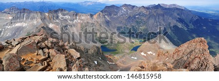 Mount Sneffels and the San Juan Mountains, Colorado Rockies - stock photo