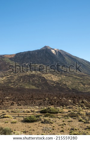 Mount Teide in the Canary Islands, Tenerife - stock photo
