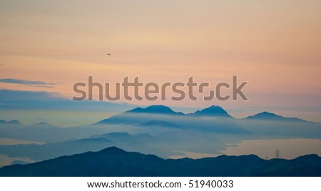 mountain after sunset