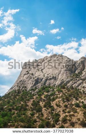 Mountain against the sky - stock photo