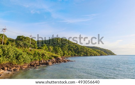 Mountain and beach landscape Chonburi Province of Thailand
