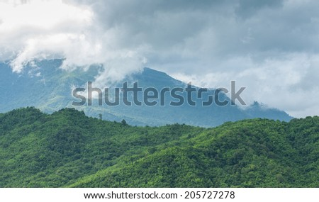 mountain and cloud - stock photo