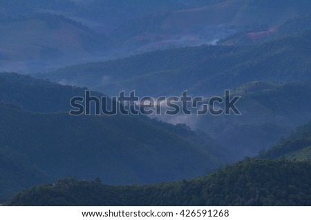 Mountain and Mist in thailand