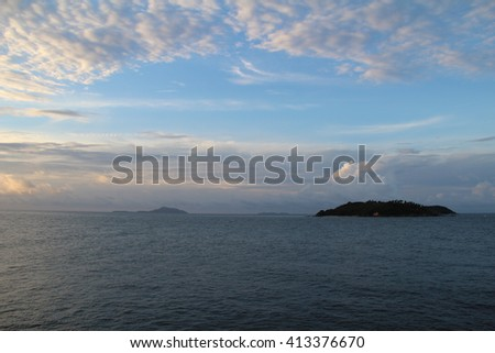 mountain and sea background