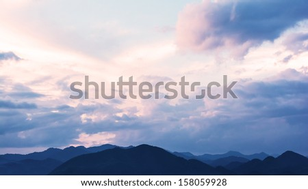 mountain and sky - stock photo