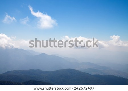 mountain and sky ,landscape