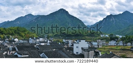 Mountain and Village