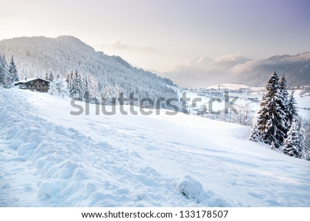 Mountain area in the Alps near Kufstein, Austria