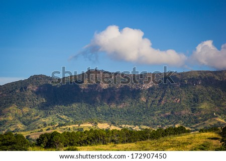 Mountain at north of Thailand,Khao Kho, Phetchabun Province, Thailand - stock photo