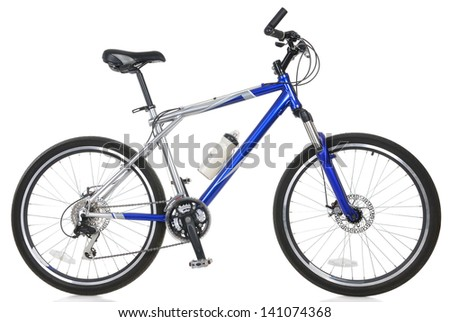 Mountain bicycle on white background