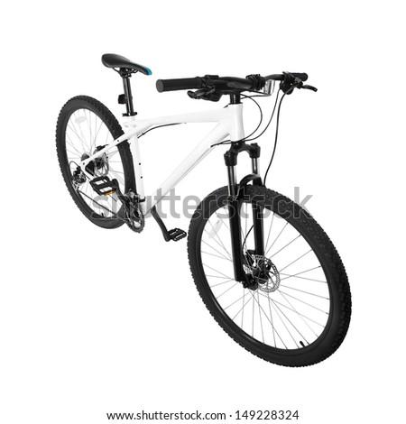Mountain bike isolated on white - stock photo