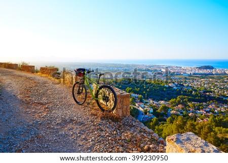 Mountain bike MTB Denia at Montgo track in alicante Spain - stock photo