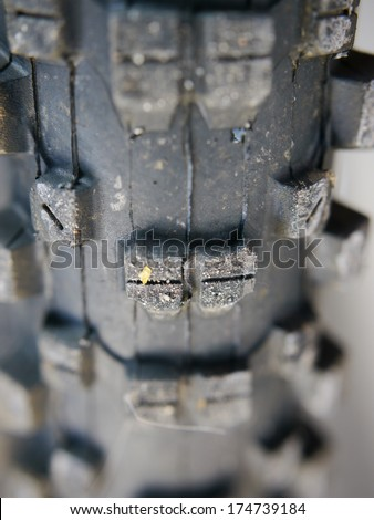 mountain bike tyre close up - stock photo