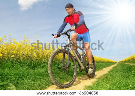 mountain biker - stock photo
