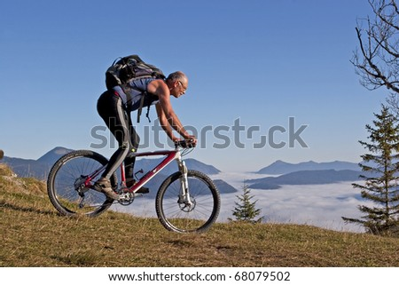 Mountain Biking at Kranzberg in Upper Bavaria