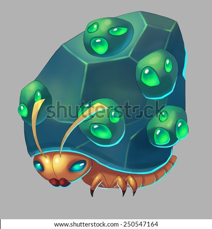 Mountain Bug - Creature Design - stock photo