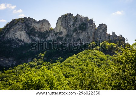 Mountain Butte at High Allegheny - stock photo