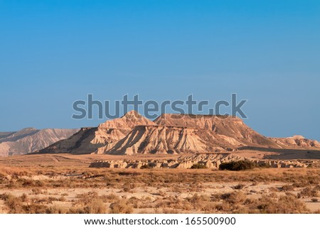 Mountain Castildetierra in Bardenas Reales Nature Park, Navarra, Spain