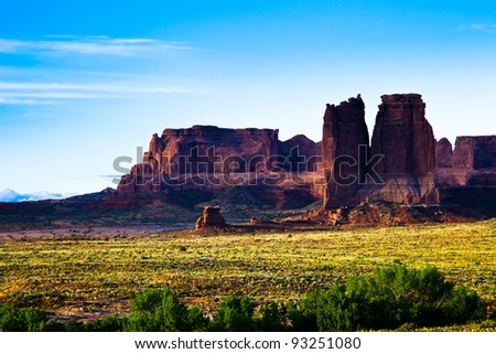 Mountain Cliffs at Arches National Park