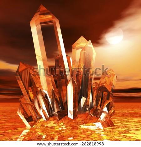 Mountain Crystal - stock photo
