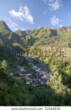 Mountain fields on the Island of Madeira