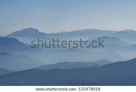 mountain filled with fog
