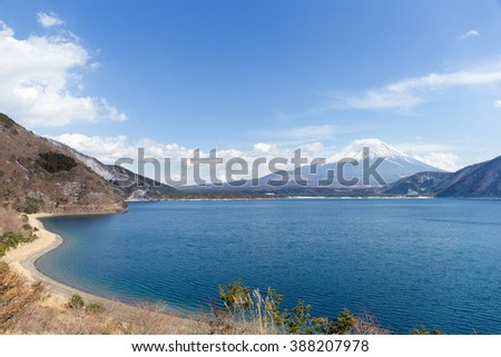 Mountain Fuji and Motosu Lake