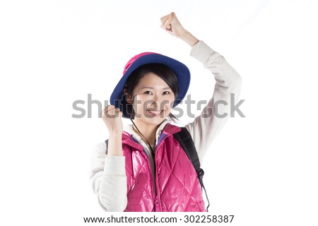 Mountain girl work hard, fighting spirit